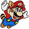 Super Mario 3 raccoon tail embroidery design