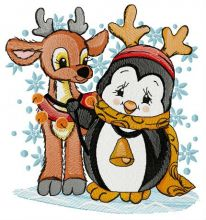 Penguin and deer