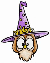 Owl in witch hat 6