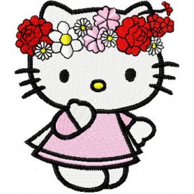 Hello Kitty Happy Easter machine embroidery design