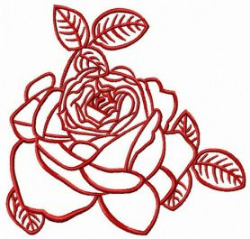 Beautiful rose machine embroidery design