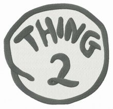 Thing 2 round badge