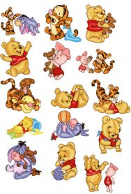 Baby Pooh Pack machine embroidery design