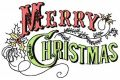 Merry Christmas vignette embroidery design