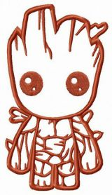 Young Groot machine embroidery design