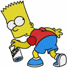 Bart Simpson paint spray logo