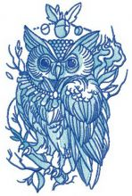 Wise owl with collar