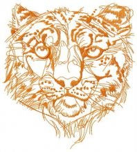 Snow leopard one color