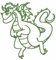 Elliott the Dragon 2 embroidery design