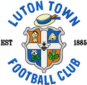 Luton town fc badge machine embroidery design