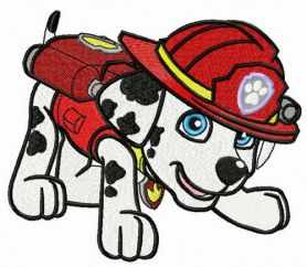 Firefighter Marshall machine embroidery design