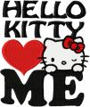 Hello Kitty Love Me embroidery design