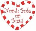 North Pole or bust free embroidery design