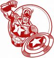 Captain America sketch embroidery design