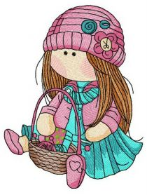 Doll knitting machine embroidery design