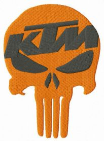 KTM Punisher machine embroidery design