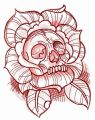 Dead rose embroidery design