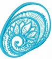 Blue round decoration 3 embroidery design
