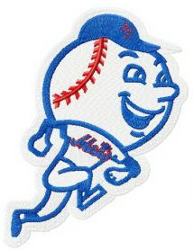 New York Mets logo 2 machine embroidery design