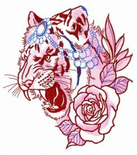 Raja's tiger with rose