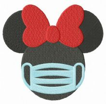 Minnie with surgical mask