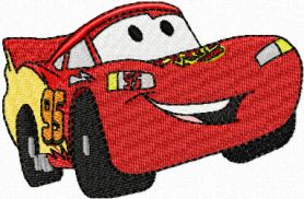 Lightning McQueen small size  machine embroidery design