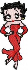 Betty Boop dancing machine embroidery design