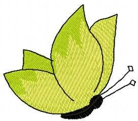 Green butterfly free embroidery design