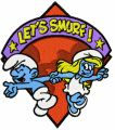Lets Smurf!  embroidery design