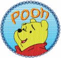 Winnie the Pooh Logo  embroidery design