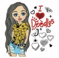 I love Doodles 2 embroidery design