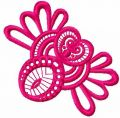 Pink lace decoration free embroidery design