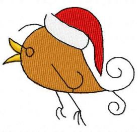 Bird Christmas song free embroidery design