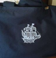 Sea theme embroidered bag