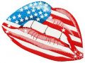 American lips embroidery design