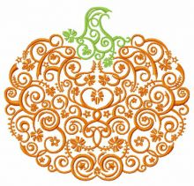 Swirl ornament pumpkin