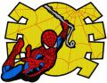 Spiderman big jump embroidery design
