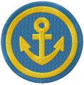 Gold anchor badge free embroidery design