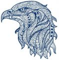 Mosaic eagle 3 embroidery design