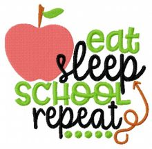 Eat, sleep, school repeat