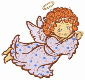 Angel flying 2 machine embroidery design