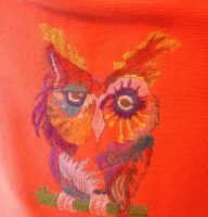 Owl in colors design on sweater4