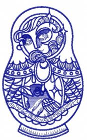 Fairy matryoshka 4 embroidery design