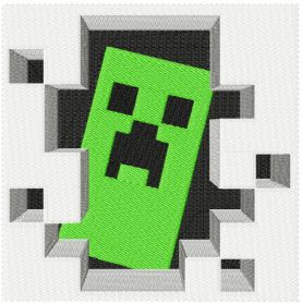 Minecraft Creeper machine embroidery design