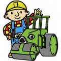 Bob the Builder with tractor embroidery design