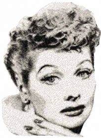 Lucille Ball free machine embroidery design