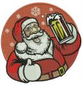 Santa with beer embroidery design