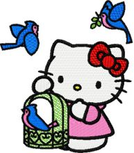 Hello Kitty with Birds