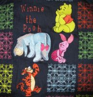 Winnie Pooh and friends designs on pillowcase1
