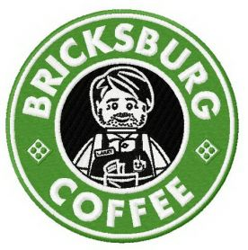 Brickburg coffee machine embroidery design